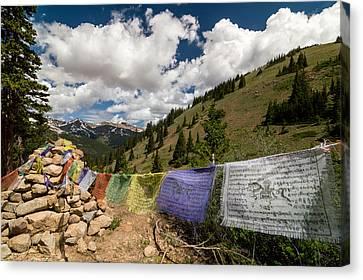 Loveland Pass Shrine Canvas Print by Michael J Bauer