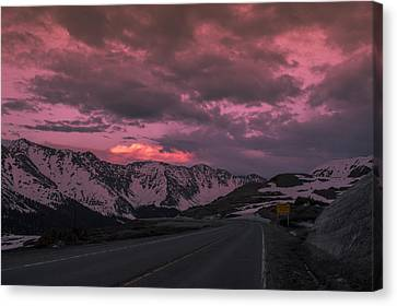 Loveland Pass Sunset Canvas Print