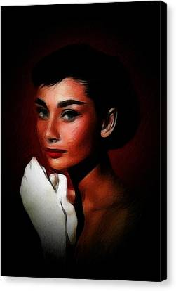 Lovely Audrey Canvas Print by Steve K