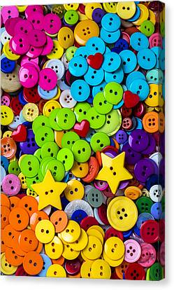 Attaching Canvas Print - Lovely Buttons by Garry Gay