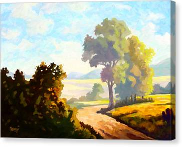 Canvas Print featuring the painting Lovely Day by Anthony Mwangi