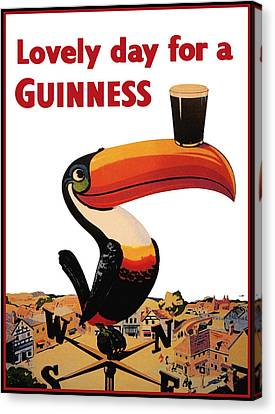 Glass Canvas Print - Lovely Day For A Guinness by Georgia Fowler