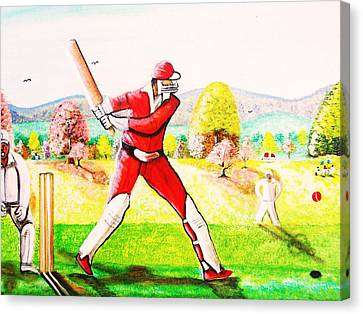 Lovely Day For Cricket. Canvas Print by Roejae Baptiste