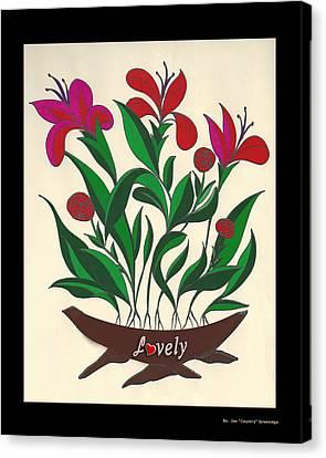Lovely  Canvas Print by Joe Greenidge