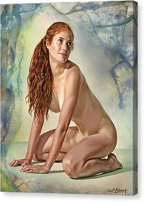 Lovely Muse Canvas Print by Paul Krapf
