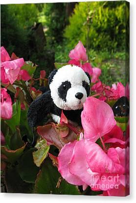 Canvas Print featuring the photograph Lovely Pink Flower by Ausra Huntington nee Paulauskaite