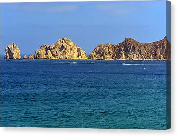 Canvas Print featuring the photograph Lovers Beach Cabo by Christine Till