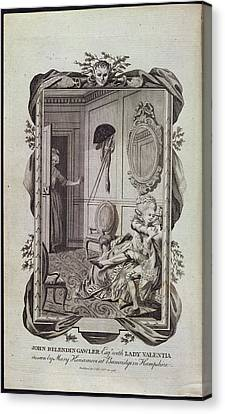 Lovers Canvas Print by British Library