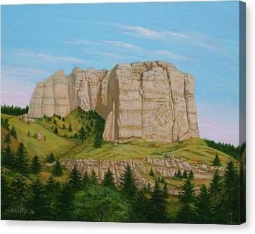 Lover's Leap Butte Canvas Print by J W Kelly