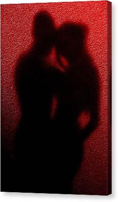Lovers  Secret Embrace Canvas Print by Teri Schuster