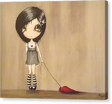Love's A Drag Canvas Print by Sour Taffy