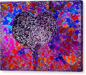 Love's Abyss And All About This Canvas Print by Kenneth James