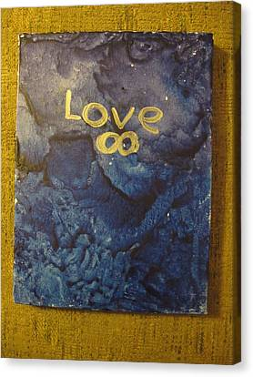 Canvas Print featuring the painting Loves Blue Mood by Lawrence Christopher