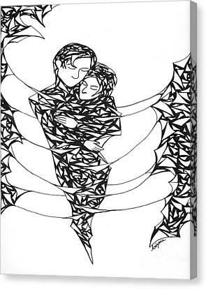 Love's Embrace Canvas Print by Arizona  Lowe
