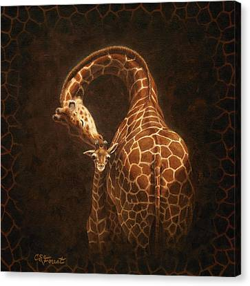 Kiss Canvas Print - Love's Golden Touch by Crista Forest