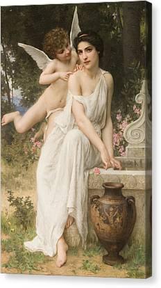 Garden Scene Canvas Print - Loves Whisper by Charles Lenoir