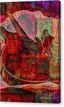 Lovin The Sound Digital Guitar Art By Steven Langston Canvas Print by Steven Lebron Langston