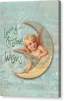 Loving Angel Wishes Canvas Print by Sarah Vernon