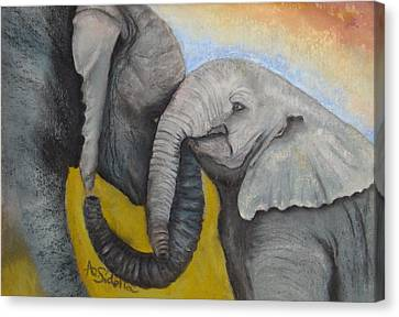 Loving Canvas Print by Annamarie Sidella-Felts