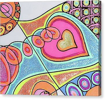 Loving Heart Connection Canvas Print by Sheree Kennedy
