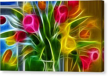Canvas Print featuring the digital art Loving by Karen Showell