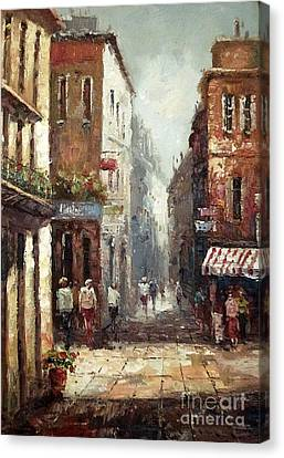 Loving Narrow Streets Canvas Print by AmaS Art