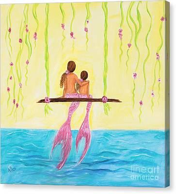 Loving Sunshine Canvas Print by Leslie Allen