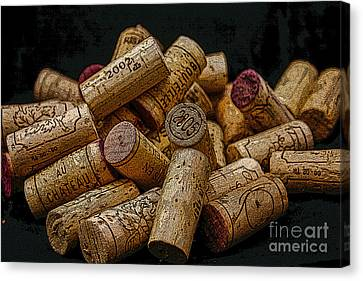 Stopper Canvas Print - Loving Wine by Patricia Hofmeester