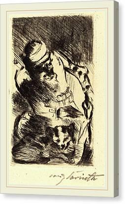 Lovis Corinth, The Cat Of The Prophet Die Katze Des Canvas Print by Litz Collection