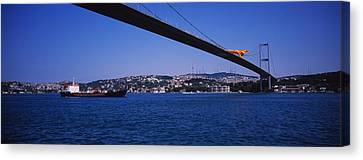 Low Angle View Of A Bridge, Bosphorus Canvas Print by Panoramic Images