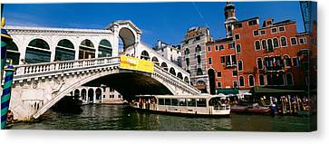 Low Angle View Of A Bridge Canvas Print by Panoramic Images