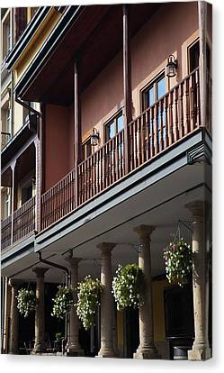 Low Angle View Of A Building, Aviles Canvas Print