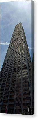 Low Angle View Of A Building, Hancock Canvas Print by Panoramic Images