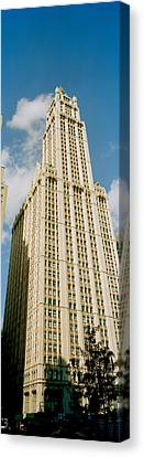 Low Angle View Of A Building, Woolworth Canvas Print by Panoramic Images