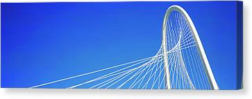 Low Angle View Of A Cable-stayed Canvas Print by Panoramic Images