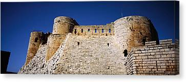 Low Angle View Of A Castle, Crac Des Canvas Print