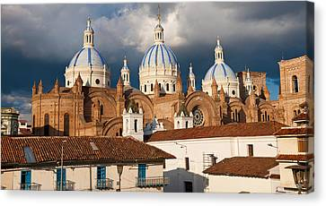 Low Angle View Of A Cathedral Canvas Print by Panoramic Images