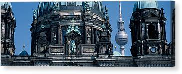 Low Angle View Of A Church, Berliner Canvas Print