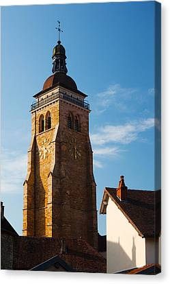 Low Angle View Of A Church, Eglise Canvas Print