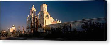 Low Angle View Of A Church, Mission San Canvas Print by Panoramic Images