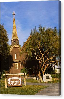Low Angle View Of A Church, The Little Canvas Print by Panoramic Images
