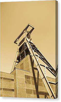 Low Angle View Of A Coal Mine Canvas Print