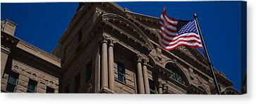 Low Angle View Of A Courthouse, Fort Canvas Print