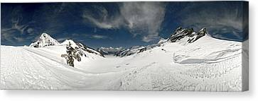 Low Angle View Of A Glacier, Aletsch Canvas Print