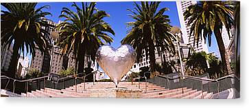 Low Angle View Of A Heart Shape Canvas Print by Panoramic Images