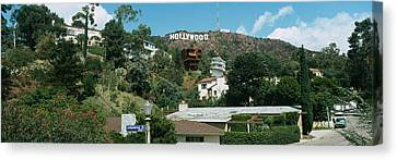 Low Angle View Of A Hill, Hollywood Canvas Print