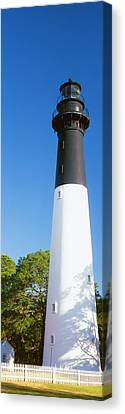 Low Angle View Of A Lighthouse, Hunting Canvas Print