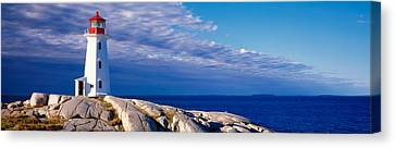 Low Angle View Of A Lighthouse, Peggys Canvas Print by Panoramic Images