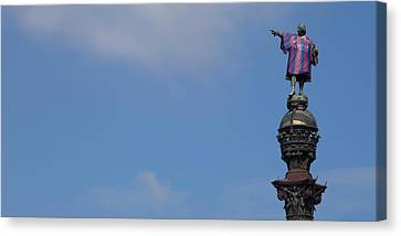 Low Angle View Of A Monument, Columbus Canvas Print by Panoramic Images
