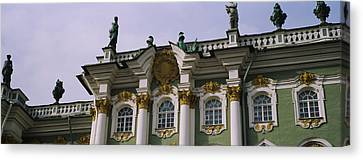 Low Angle View Of A Palace, Winter Canvas Print